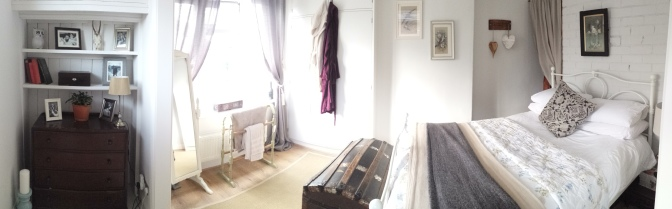 Eclectic vintage bedroom design