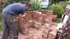 Brick BBQ area