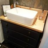Bespoke up-cycled sink unit Vintage style
