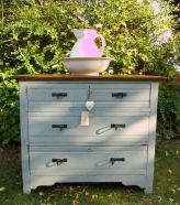 Restored and painted antique furniture