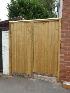 Bespoke wooden gate