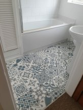 fix bathroom floor